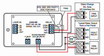 zeta addressable fire alarm wiring diagram trailer light 7 pin (ziou) input output unit - switching low voltage